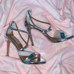 Steve Madden Brand New Silver Heels Prom Wedding 7